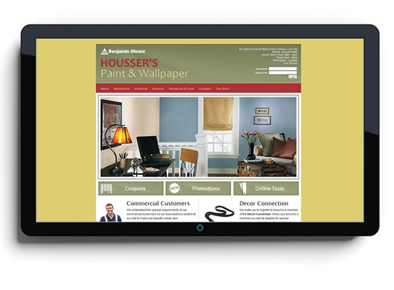 Website Housser's Paint